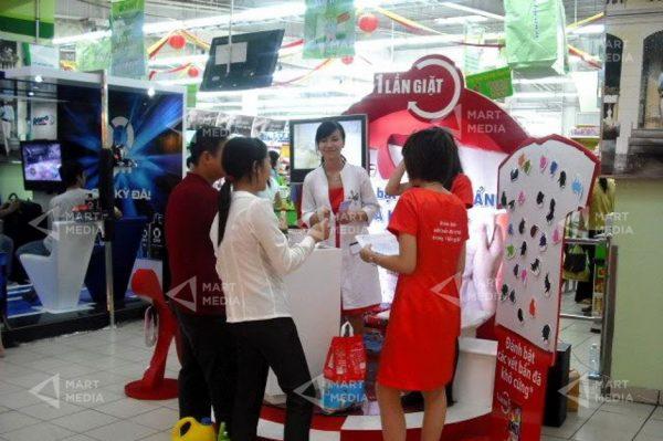 booth quảng cáo tại siêu thị