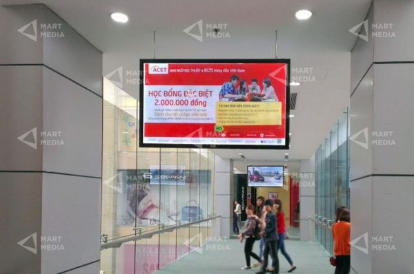 quảng cáo lcd frame tại siêu thị