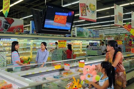 quảng cáo lcd, frame tại siêu thị