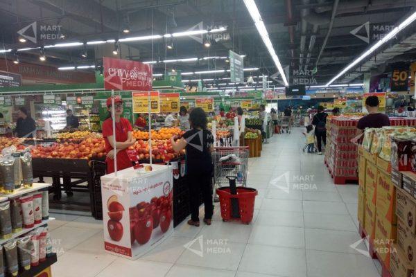 quảng cáo sản phẩm trong siêu thị