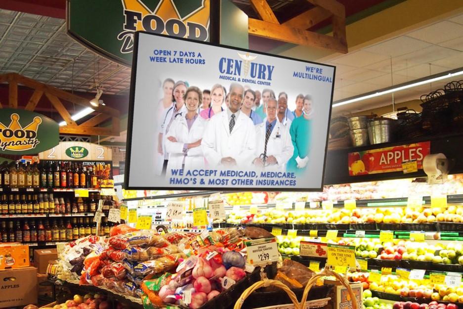 quảng cáo ở siêu thị