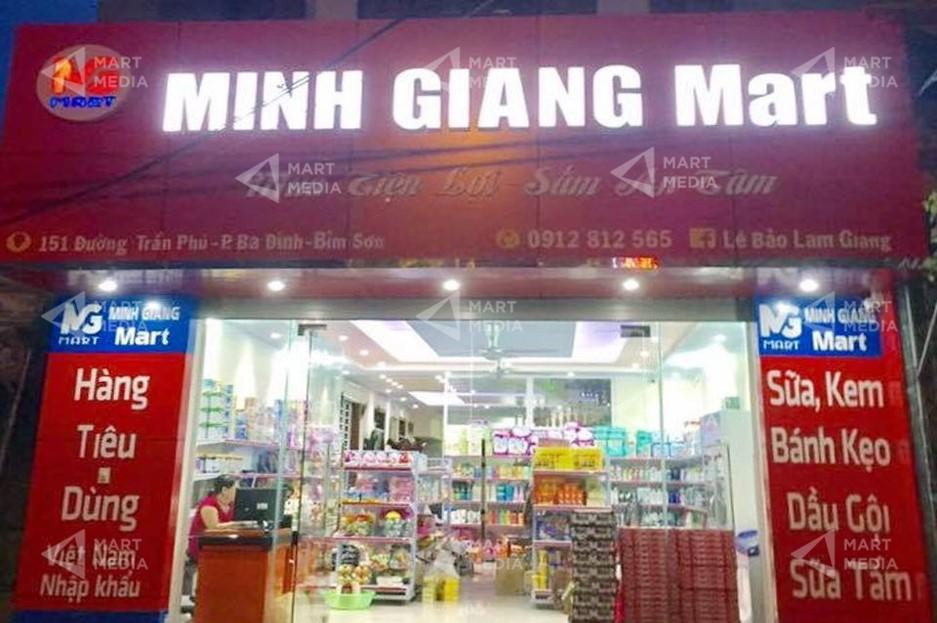 biển quảng cáo siêu thị mini
