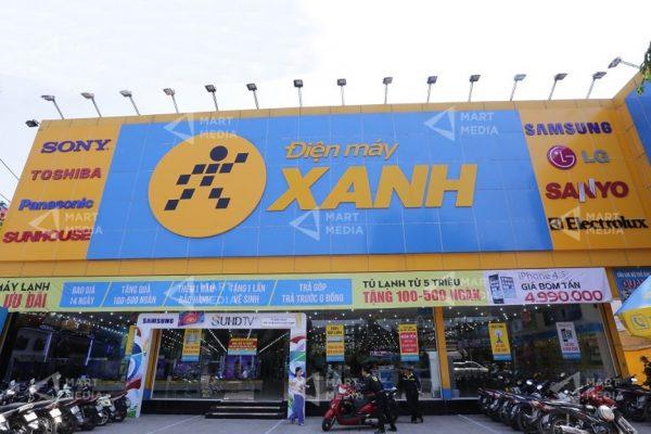 quảng cáo siêu thị điện máy xanh
