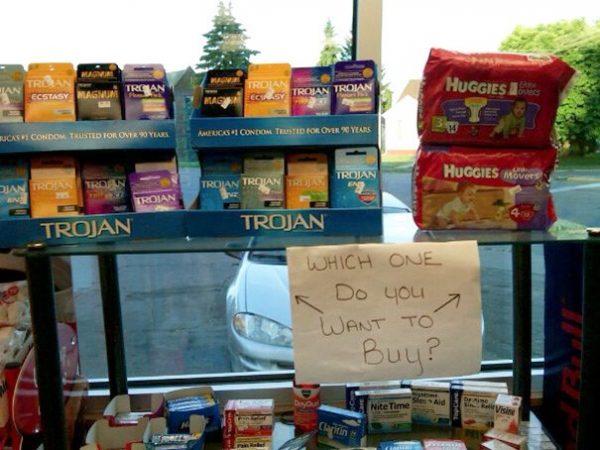 ý tưởng quảng cáo siêu thị