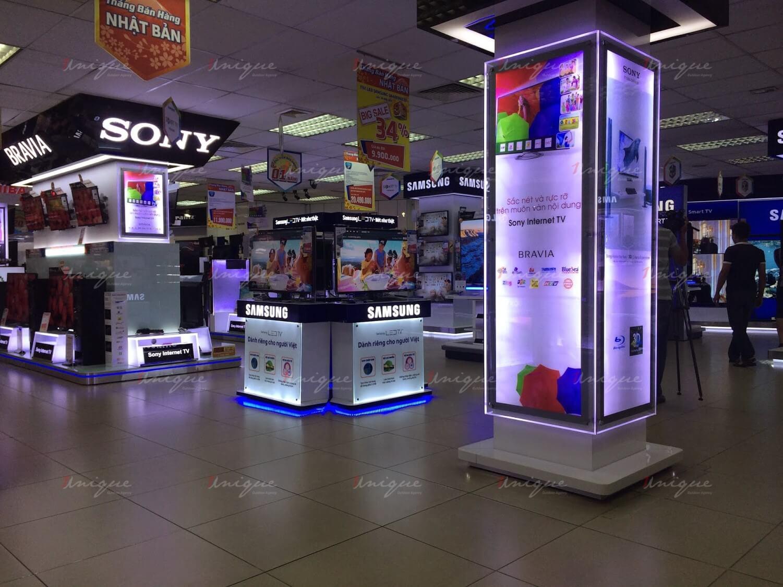 quảng cáo biển hộp đèn siêu thị