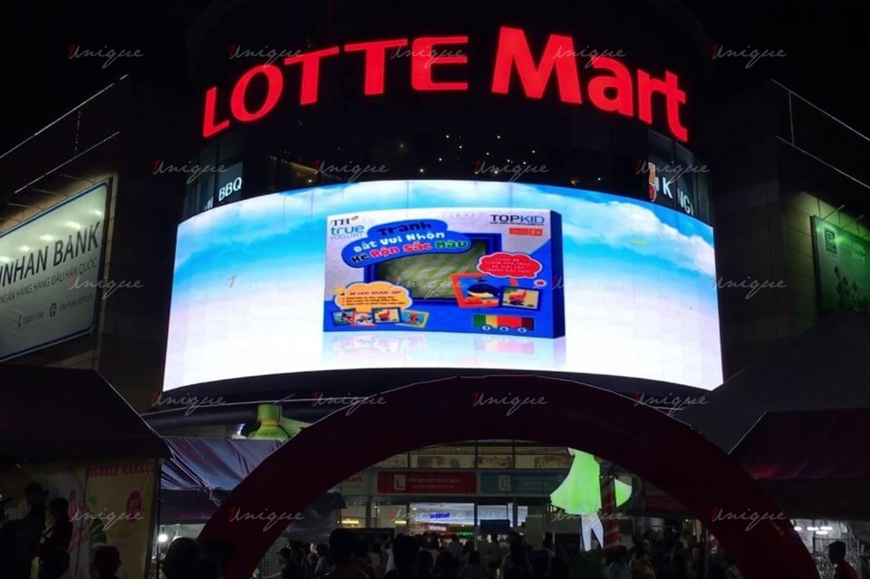 quảng cáo màn hình led, lcd, frame tại siêu thị