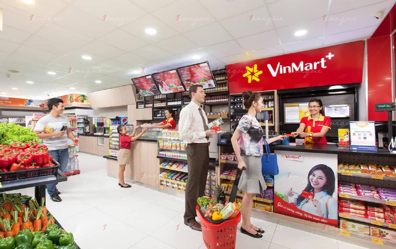 quảng cáo tại quầy thu ngân siêu thị
