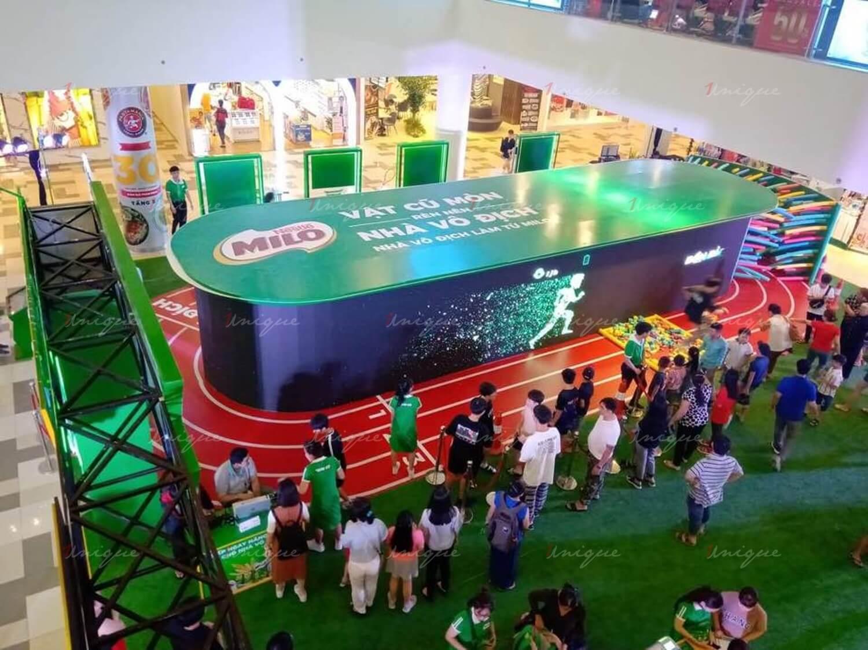 quảng cáo event, activation tại trung tâm thương mại